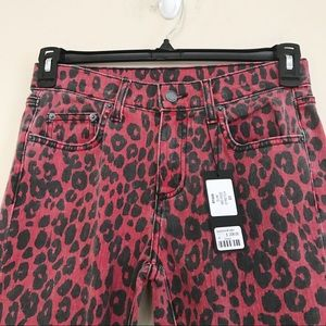 CARMAR Ryan red cheetah print slim mid-rise 27